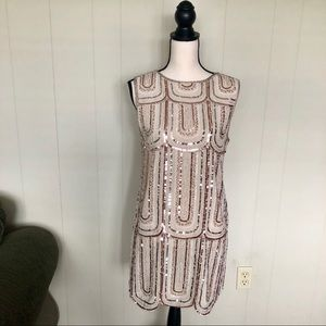 Endless Rose tan sequin dress size small